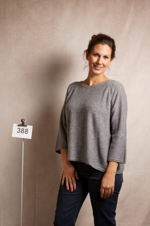 Fenji Top straight loose, grey-melange